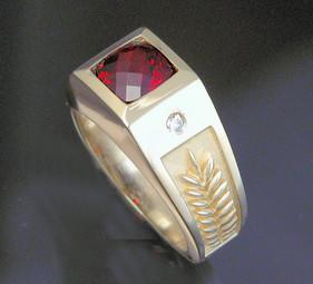 Jagger Garnet Ring