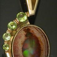 14kt Mexican Opal & Peridot