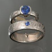 Idona Blue Sapphire Ring Set