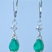 Lillian 3 ct Emerald Earrings