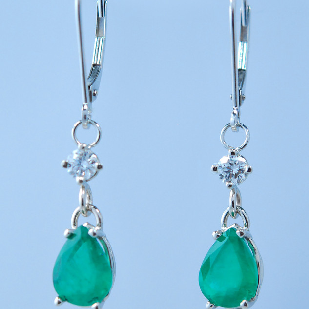 Lillian 3 ct Emerald Earrings