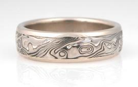 Unique Mokume Gane Wedding Ring