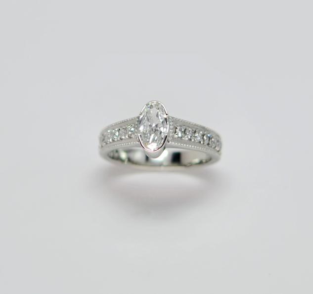 Oval Diamond Stephanie Wedding Ring