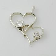 Heart with Diamonds Pendant