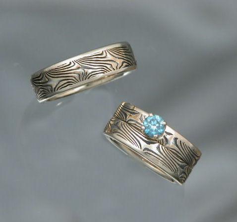 Blue Diamond Wedding Set
