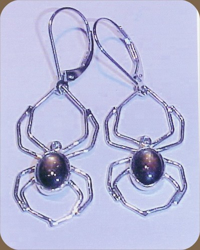 Sapphire Spider Drop Earrings