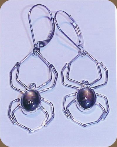 Sapphire Spider Drop Earrings