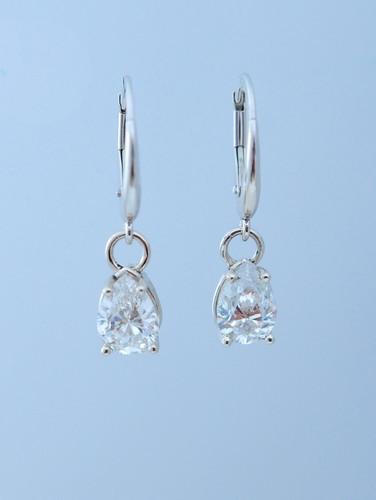 Victoria 2ct drop earrings