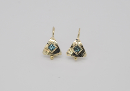 Maris Blue Diamond Earrings