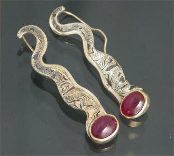 Aika Ruby Drop Earrings
