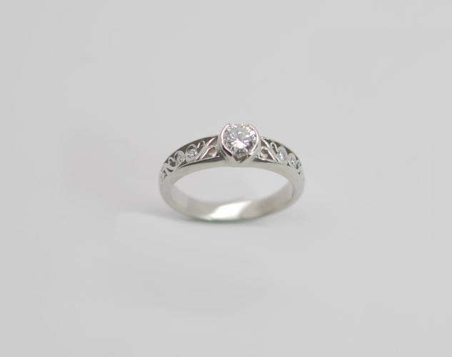 Filigree Pamela Wedding Ring
