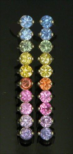 14kt Multi Precious Stones Earrings