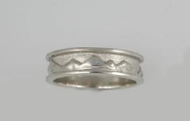 Mountain Scene Wedding Ring