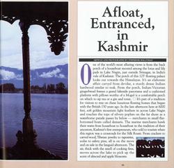 Afloat In Kashmir