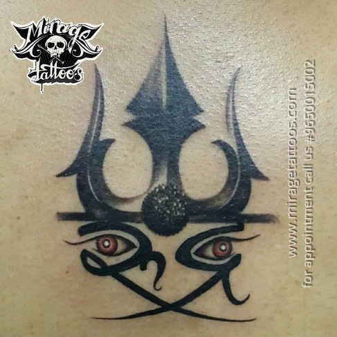 Trishul rudra tattoo