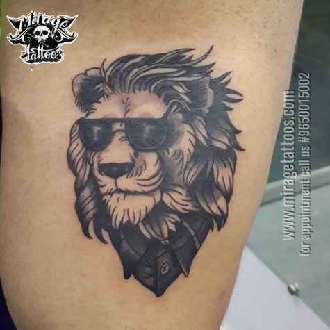 Gentlemen Lion tattoo