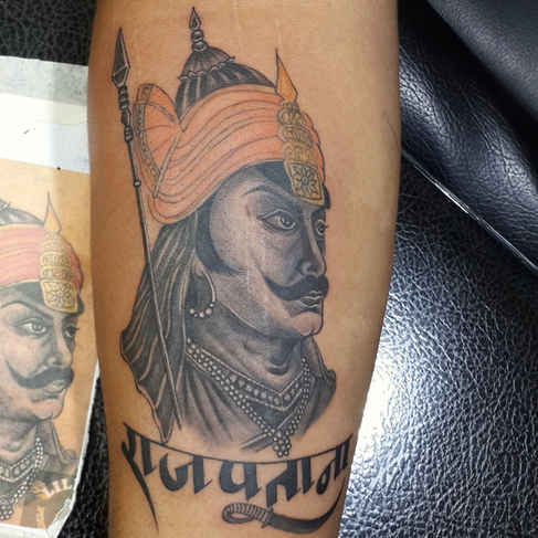 Maharana Pratap Tattoo