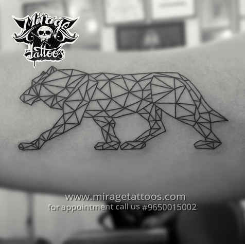 Geomatric Wolf tattoo