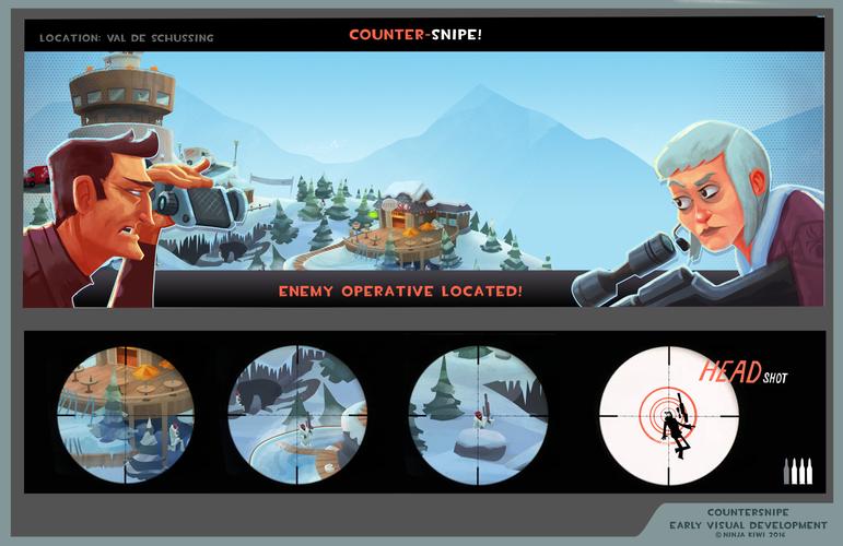 Spy theme visuals