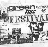 CND Greenham common. Embraced the base and shouted at the pigs!