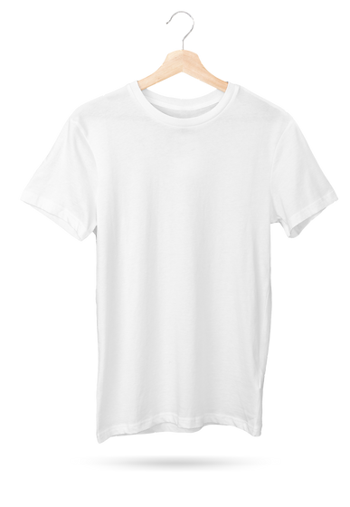 Mockup of a T-Shirt Hanging Against a So