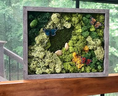 custom moss frame