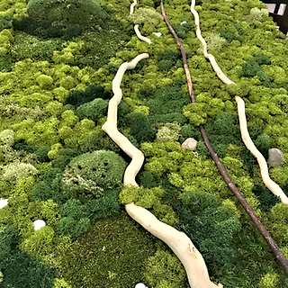 moss, custom frame detail