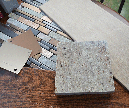 sustainable materials, granite, paint, porcelain, wood, tile, accent, slate, copper