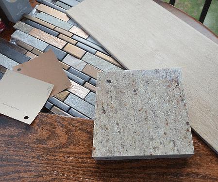 sustainable materials, granite, paint, porcelain, wood, tile, accent, slate, copper