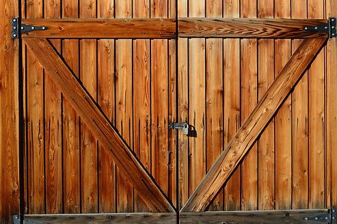 barn doors, recycling, master bath