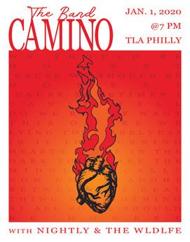 The Band CAMINO Fake Gig Poster