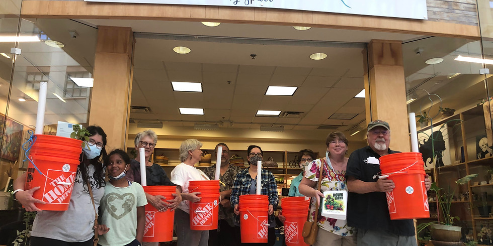 Self Watering Bucket Making with Ted!
