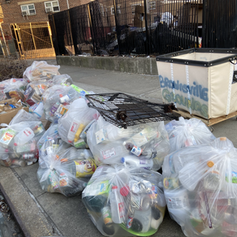 500 lbs. of recyclables