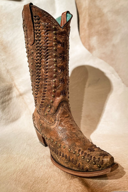 Corral Women's Brown Studded Boot - C3004