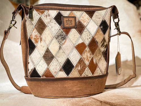 Diamond Mail Bag Cowhide
