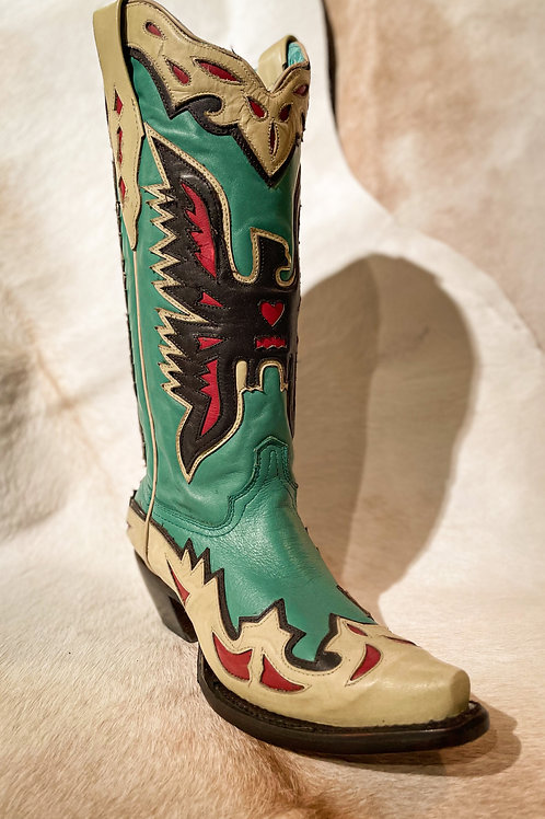 Corral Turquoise Eagle Overly Boot - A3779