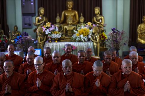 Thailand female buddhist monk