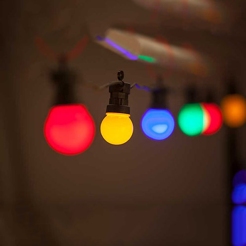 Lyskæde - farvet LED