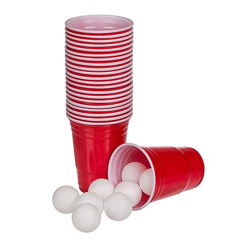 Beer Pong ekstra bolde og cups