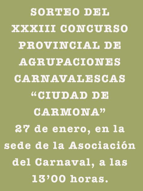 Sorteo de Agrupaciones del XXXIII concurso de carnaval