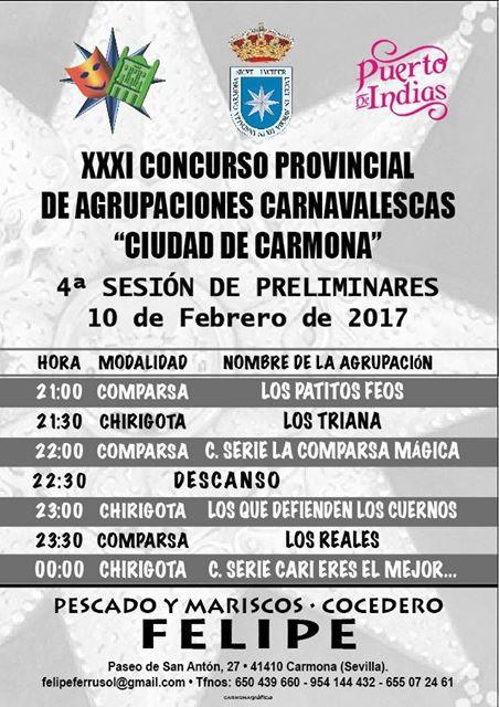 ACTUACION DE AGRUPACIONES VIERNES 10 DE FEBRERO