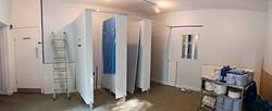 Public Toilet installation by Arjun Harrison Mann and Benjamin Redgrove.