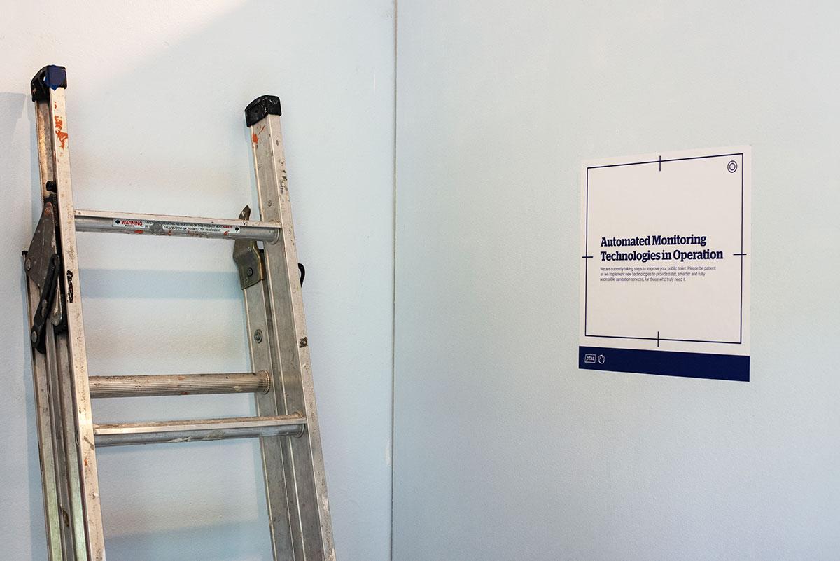 Installation shot of Public Toilet.