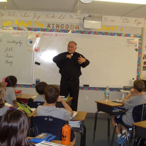 Fr. Madden Visits 3rd Grade