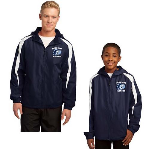 Blue & White Zippered Jacket