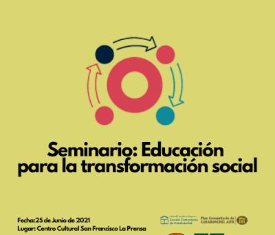 Participamos en el Seminario sobre Educación para la transformación Social