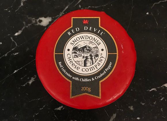 Red Devil Mature Cheddar with Red Leicester,chillies,spices and herbs