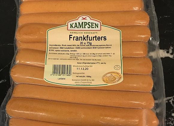 Frankfurters x20 75g