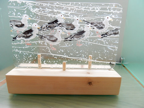 Fused Glass Seagulls