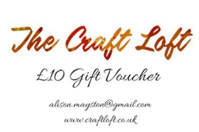 Craft Loft £10 Gift Voucher